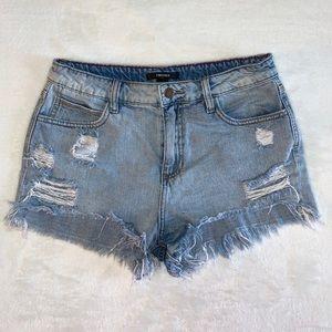 High Waited Jean Shorts